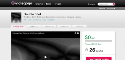 Indiegogo Fund Raising for Shiz Media and Double Shot